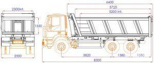 надстройка IVECO Trakker схема