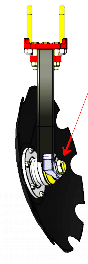 вибрирующая стойка бороны Ufo фото