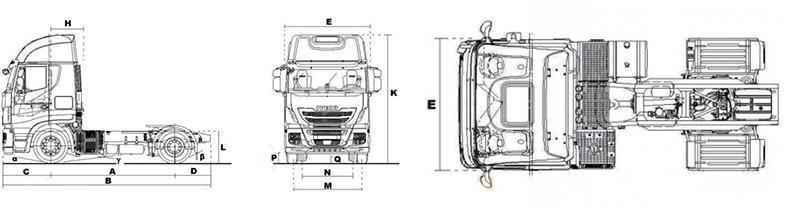 седельный тягач IVECO Stralis EVO схема