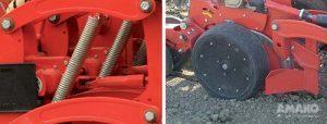 два независимых опорных колеся в сеялке Romina фото