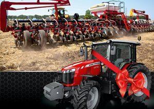 трактор MF 6713 и сеялка Challenger 8824 фото