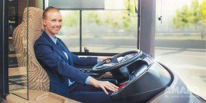 место водителя в автобусе ИВЕКО картинка