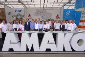 Коллектив компании АМАКО на выставке в Украине