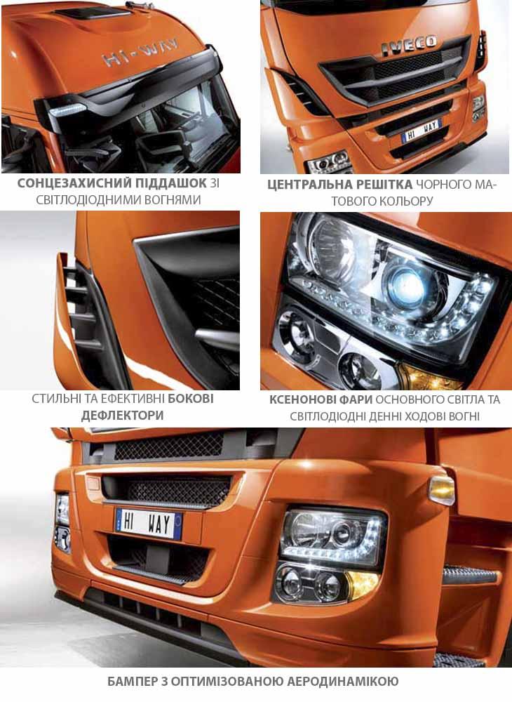 Высокий уровень дизайна и аэродинамики кабины грузовика STRALIS